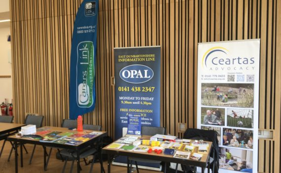 OPAL, Ceartas and Carers Link host a stand